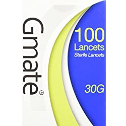 Gmate Lancets- 30G, 100 ct