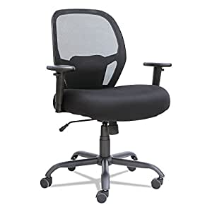 Alera ALEMX4517 Merix Series Mesh Big/Tall Mid-Back Swivel/Tilt Chair, Black