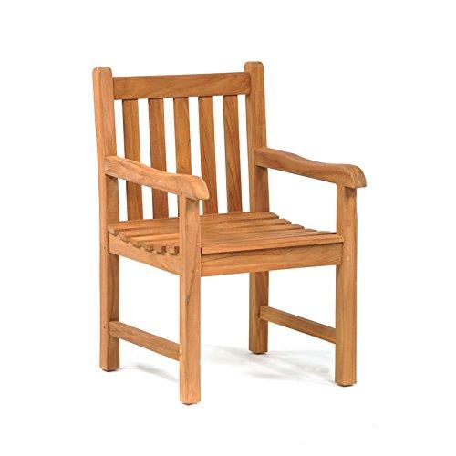 BrackenStyle Outdoor Wooden Garden Patio Teak Arm Chair LeisureBench