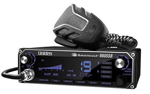 Uniden BEARCAT 980SSB 40- Channel SSB CB Radio with Sideband NOAA WeatherBand,7- Color Digital Display PA/CB Switch and Noise Cancelling Mic, Wireless Mic Compatible