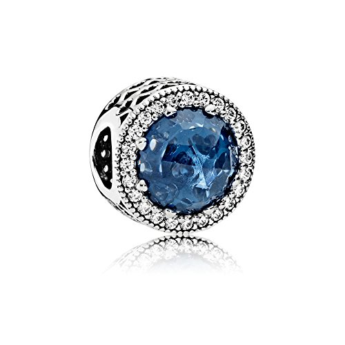 [판도라] PANDORA Moonlight Blue Radiant Hearts 매력 (실버 믹스 스톤) 정식 수입품 791725NMB