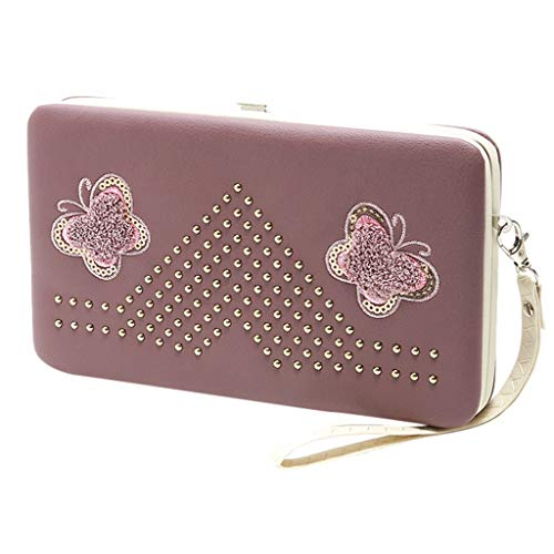 Price comparison product image Wallet For Women, Female Butterfly Long Wallet Lunch Box Wallet Clutch Bag Mobile Phone Bag Purse, Girls' Fashion