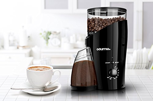 Gourmia 633 Electric Burr Coffee Grinder, Black