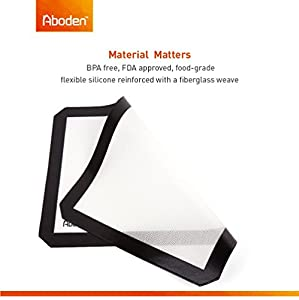 Aboden Non-Stick Silicone Baking Mat Set, Pack of 2