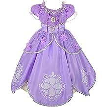 Dressy Daisy Girls' Princess Sofia Dress Up Costume Cosplay Fancy Party Dress