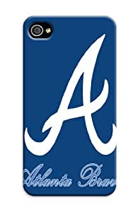 ArtPopTart Iphone 4/4s Protective Case,Fashion Popular Atlanta Braves Designed Iphone 4/4s Hard Case/Mlb Hard Case Cover Skin for Iphone 4/4s