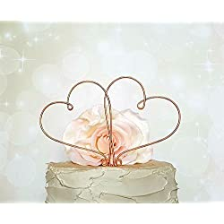 HEARTS Wedding Cake Topper in COPPER Finish Special Events Decoration