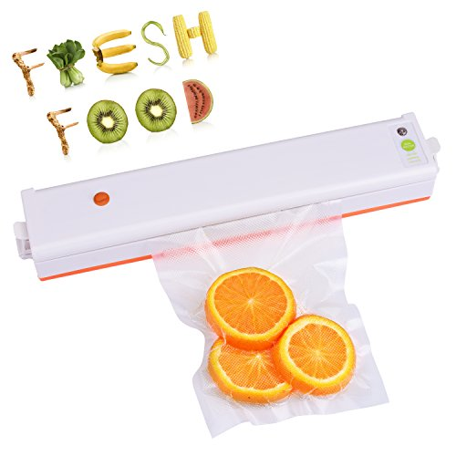 UPC 761560650257, Vacuum Sealer Machine, Vacuum Machines for Sous Vide Food Saver with 2 in 1 Design Vacuum Sealing System, Compact Size Vacuum Sealer and Vacuum Bags for Food Preservation (White)