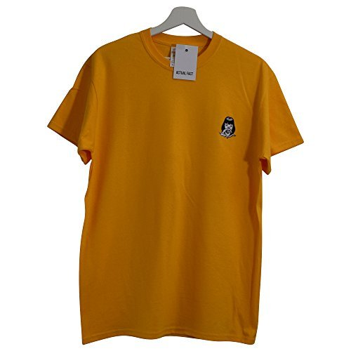 Actual shirt Brodé T Wallace Fact X Xxl Mia Fiction Pulp petit Jaune Cocaine qn0rqZzvxw