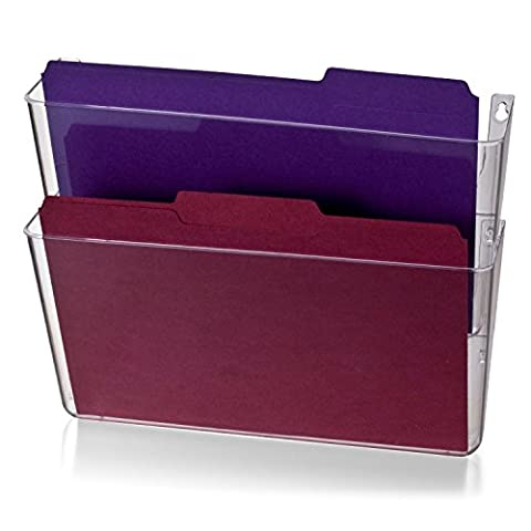 Officemate Wall File Letter Size Clear 2 Pack (21404) New