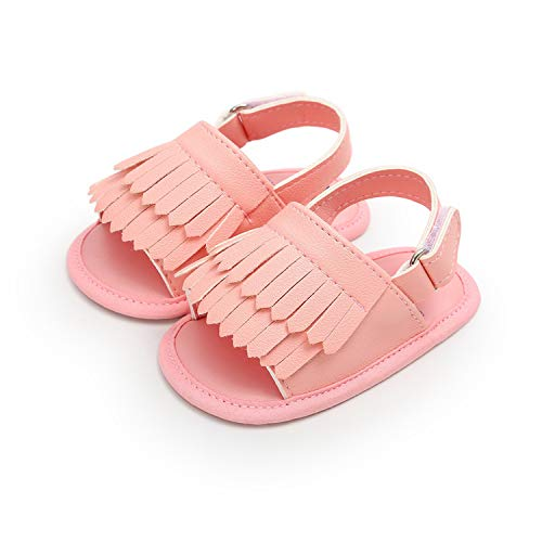 Endand Baby Shoes Summer Newborn Baby Sandal Soft Bottom Fringe Shoes Girls Toddler Slippers Boys Prewalkers 0-18M,85P,0-6 Months