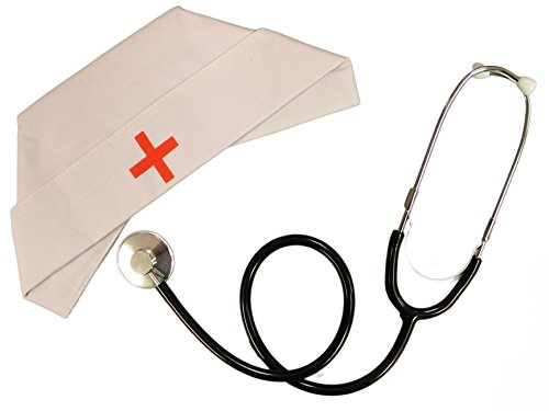 Nurse Costume Kit - Nurse Hat and Stethoscope (Sexy Zombie Nurse Costume)