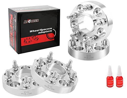 Richeer Wheel Spacers 5X114.3mm for Nissan 350Z 370Z 300Zx 240Sx Infiniti G35 G37,Forged spacers 1 inch 12x1.25 Studs&66.1mm Center Bore.
