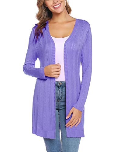 iClosam Women's Open Front Cardigan Long Sleeve Lightweight Knit Cardigan Sweater