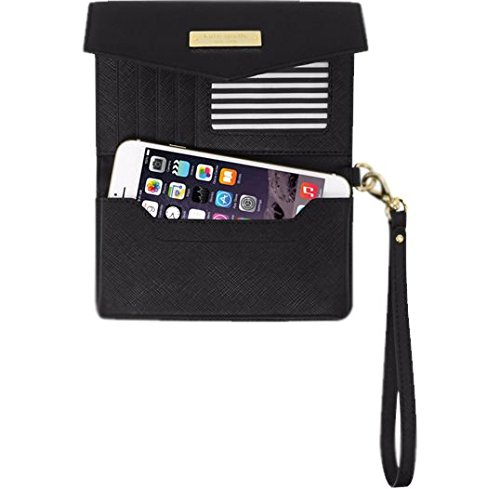 Kate Spade New York Black Wristlet Large For Devices up to 5.7