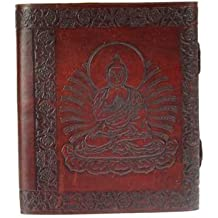 Buddha Leather Embossed Hand Made Blank Journal Diary Notebook Clasp Closure