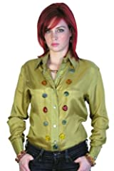 You will dazzle and shine in this classy button-down silk shirt by Royal Silk®. Clean, sharp, and chic, this is the one go-to shirt that will really go the distance. It is so versatile that you can wear it tucked-in or un-tucked. It has a ful...