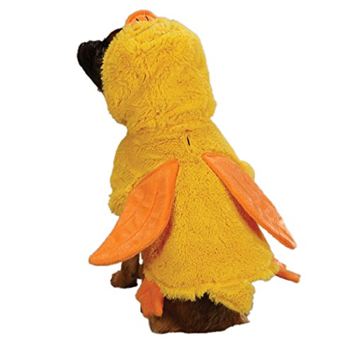 Zack & Zoey Polyester Quackers Duck Dog Costume, Medium, 16-Inch, -