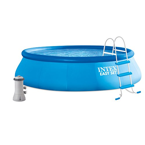 "Intex 16' x 42"" Easy Set Above Ground Swimming Pool Kit w/ F"