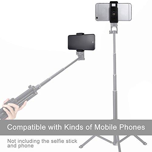 Vastar-Mobile-Phone-Mount-Tripod-Adapter-Smart-Phone-Tripod-Holder-with-Self-standing-Bracket-and-2-Standard-14-Screw-Holes-Black