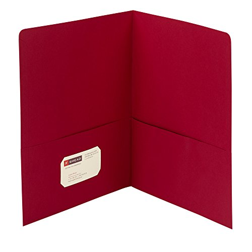 Smead Two-Pocket Heavyweight Folder, Letter Size, Red, 25 per Box (87859) by Smead