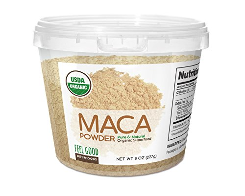 Feel-Good-Organic-Super-Foods-USDA-Organic-Maca-Powder-8-Ounces