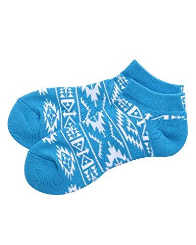 (ガッチャ ゴルフ) GOTCHA GOLF 靴下 カラー ナバホ柄 ソックス 181GG8801 ターコイズ Lサイズ