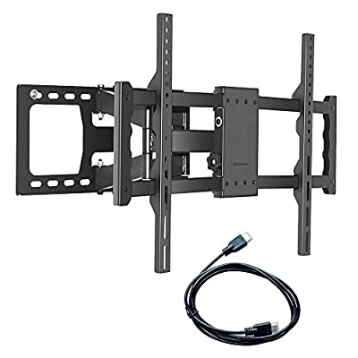 Sunyear Heavy Duty Full Motion Swivel Dual Articulating Cantilever Arms TV Wall Mount Bracket for Sony LG Panasonic Samsung Sharp 30 to 65 inch LCD Plasma LED TVs with HDMI Cable