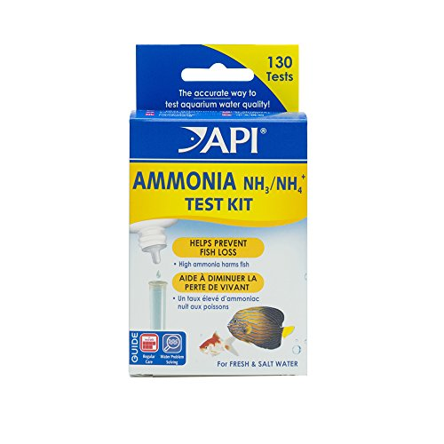 (API AMMONIA 130-Test Freshwater and Saltwater Aquarium Water Test Kit)