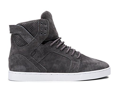 Supra Men's Skytop LX Grey/White Sneaker Men's 11 D (M) by Supra