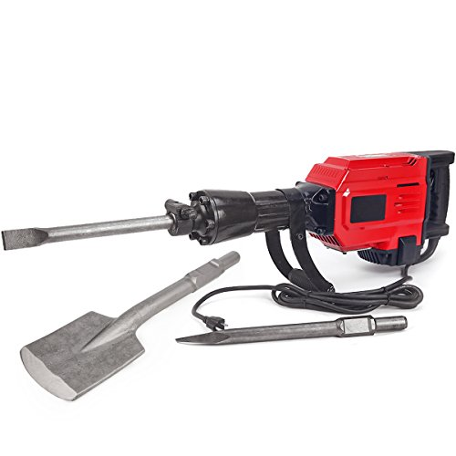 XtremepowerUS Heavy Duty Electric Demolition Jack hammer, Concrete Breaker (2200Watt w/ Asphalt Cutter)