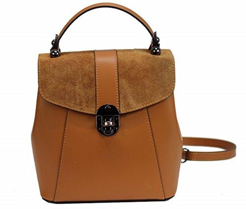 Bozana Bag Bo cognac Backpacker Designer Rucksack Ledertasche Damenhandtasche Schultertasche Leder Nappa sheep ItalyNeu