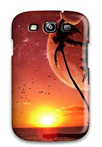 Galaxy Cover Case - Abstract Red Protective Case Compatibel With Galaxy S3