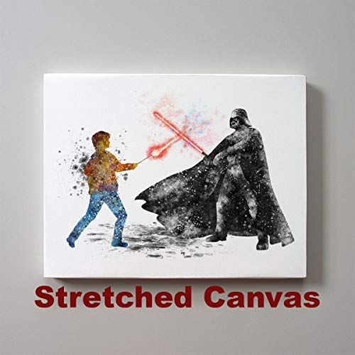 Star Wars Harry Potter vs Darth Vader 11 x 14 inches Stretched Canvas -