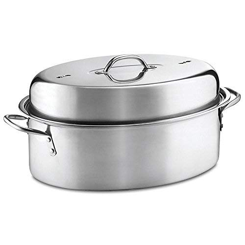 Wilton 3-Piece Stainless Steel Covered Oval Roaster Set