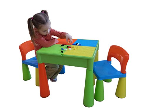 Liberty House Toys 5-in-1 Activity Table and Chairs with Writing...