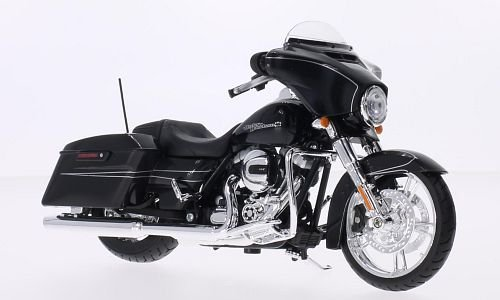 Harley Toy (Maisto 2015 Harley Davidson Street Glide Motorcycle 1/12 Scale Pre-Built Model Black)