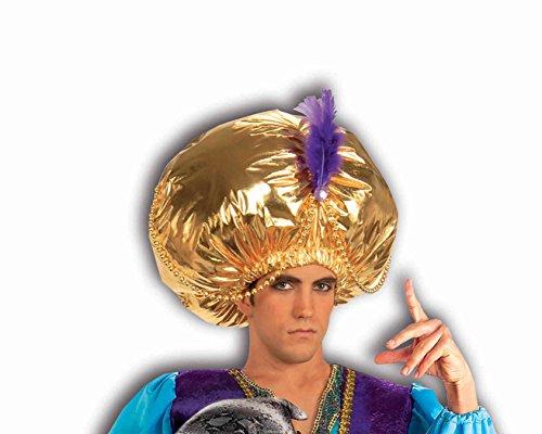 Sultan Aladdin Costume (Forum Novelties Men's Giant Turban Costume Accessory, Gold, One Size)