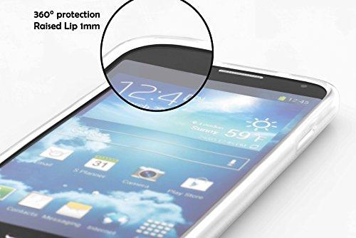 Cadorabo - Sony Xperia M2 Cubierta protectora de silicona TPU en diseño X-Line - Case Cover Funda Carcasa Protección en ORQUÍDEA-VIOLETA SEMI-TRANSPARENTE