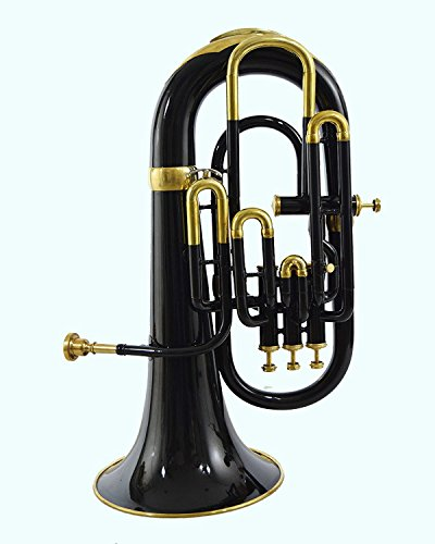 Global Art World BB Pitch Stylish Euphonium With 4 Valve Beautifully Crafted Musical Instrument MI 071 by Global Art World