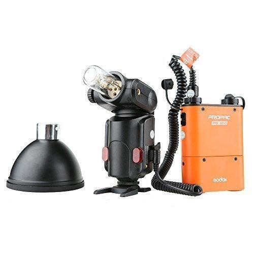 Godox Portable Advanced Flash Speedlite with 4500mah Battery Black Godox Neewer Witstro ad360 flash kit with Pb960 Battery Orange by Godox