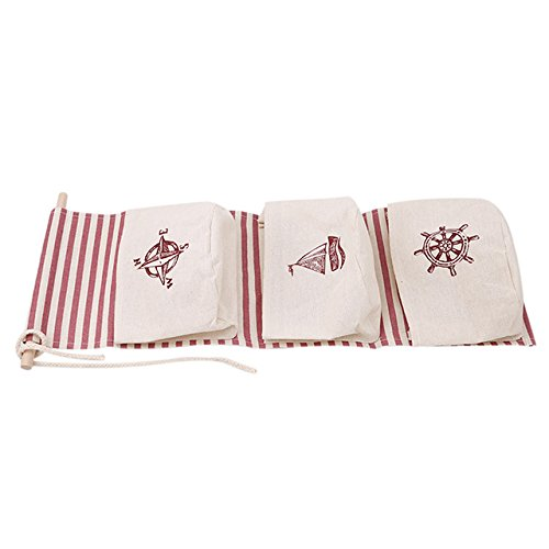 e51bd58d02 895770   Flamingo Pattern Cotton Linen Hanging Storage Bag 3 Pockets Wall  Mounted Wardrobe Hang Bag Wall Pouch Cosmetic Toys Organizer  Amazon.in   Home   ...