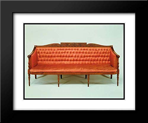 (Samuel McIntire - 24x20 Black Modern Frame and Double Matted Museum Art Print - Sofa)