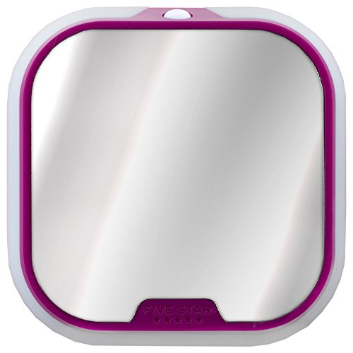 Magnetic Locker Mirror & Light, Bright Pink