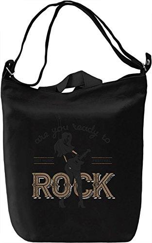 Are you ready to rock Borsa Giornaliera Canvas Canvas Day Bag| 100% Premium Cotton Canvas| DTG Printing|