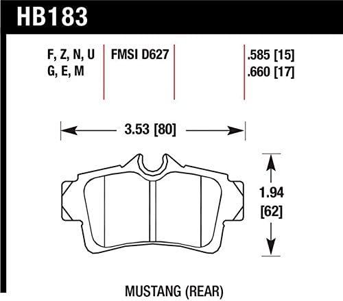 Hawk Performance HB183F.660 HPS Performance Ceramic Brake Pad