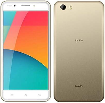 best service bba45 f6a09 Lava Iris 870 Dual SIM - 8GB, 2GB RAM, 4G LTE, Gold: Amazon.com ...
