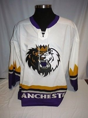 - Manchester Monarchs AHL Game Issued White Blank SP Hockey Jersey LA Kings 56