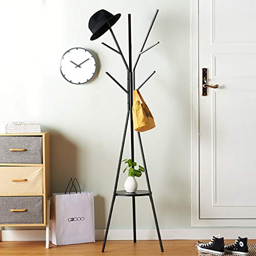 Amazon.com: YMJ JH& Floor Coat Rack Wrought Iron Home Living ...