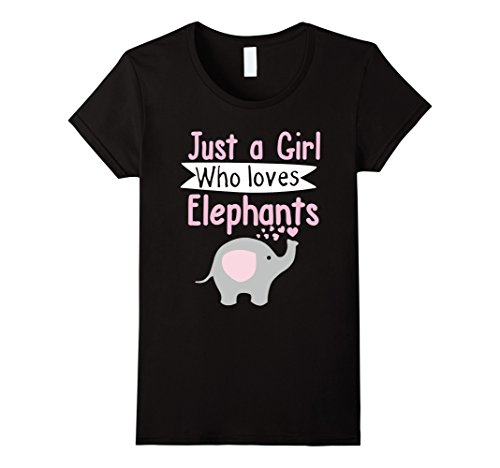 Cute Elephant Tee Shirts For Girls Womens Cute Elephant T Shirt Just A Girl Who Loves Elephants Medium Black price tips cheap